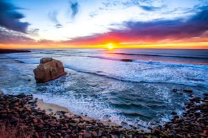 Бесплатные фото Ocean,Sunset,San Diego,закат,море,пляж,скала