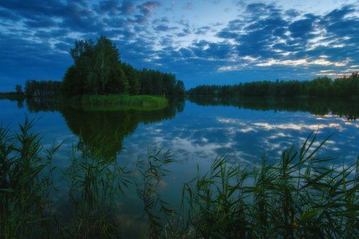 Фото бесплатно небо, берег, закат