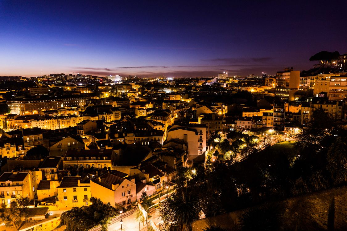 Photos for free Lisbon, Portugal, night - to the desktop