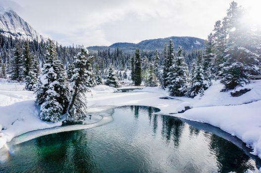 Бесплатные фото Национальный парк Банф,Альберта,Канада,водоём,горы зима,деревья,снег,сугробы,озеро,природа,пейзаж
