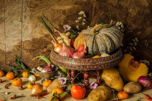 Vegetables, fruit, healthy foods · free photo