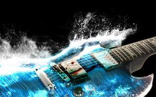 Фото бесплатно волны, гитары, мост