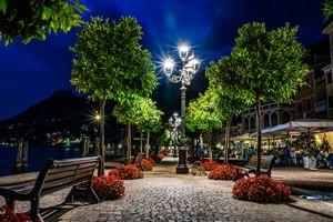 Бесплатные фото Италия,Озеро Гарда,Italy,Lago di Garda,Ночь,ночь,огни