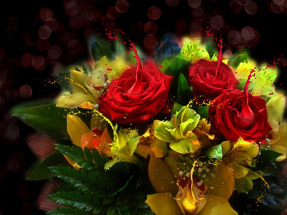 красочный букет · бесплатное фото