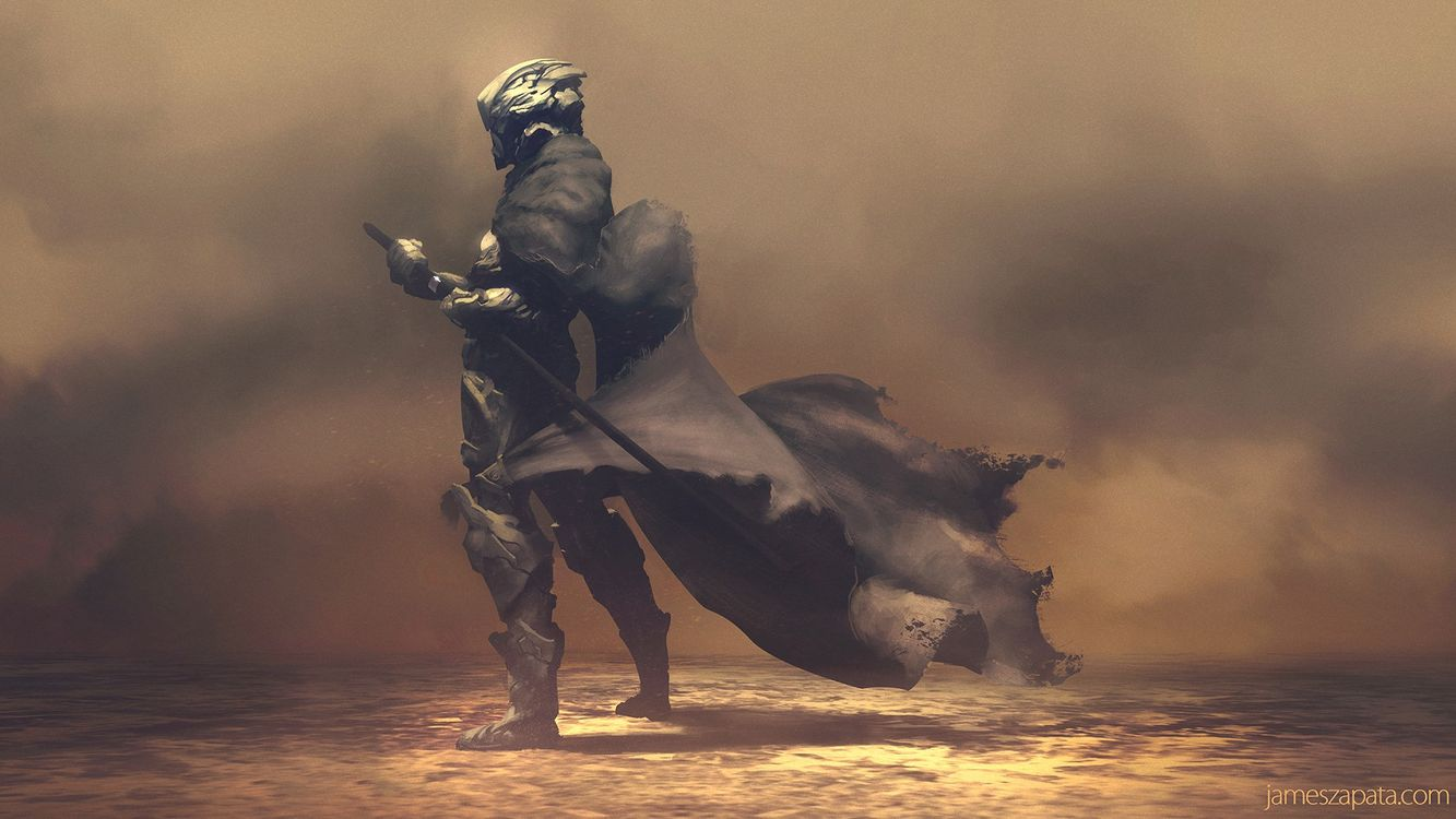 Free photo warrior, armor, artwork, digital art, futuristic, samurai, sword - to desktop