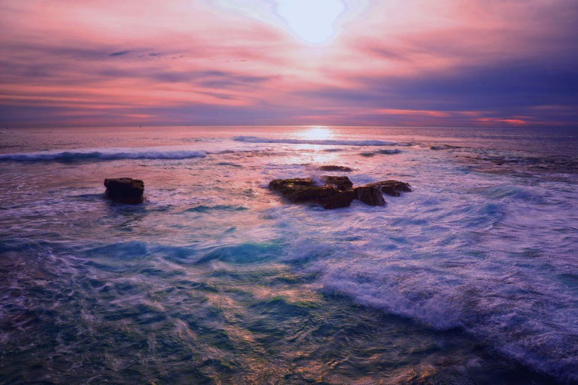 Фото бесплатно океан, закат, пейзаж - на рабочий стол