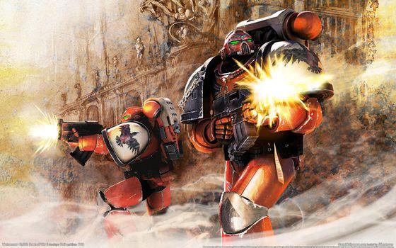 Заставки Warhammer 40, 000, космические морские пехотинцы