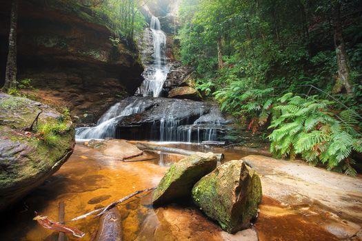 Заставки Австралия, водопад, скалы