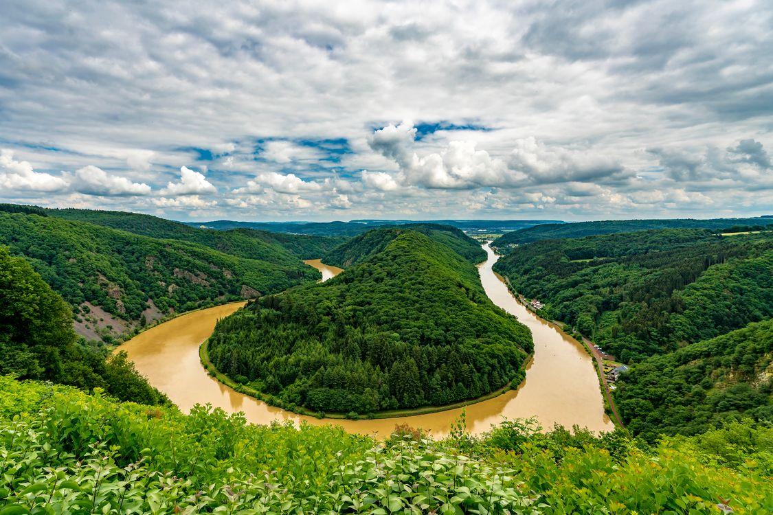 Изгиб реки Саар - Saar Loop · бесплатное фото