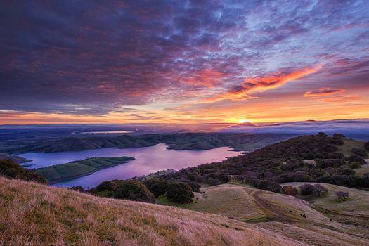 Бесплатные фото Livermore,California,закат,холмы,озеро,водохранилище,небо,лес,деревья,пейзаж