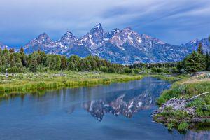 Фото бесплатно Teton Range, Wyoming, национальный парк Grand Teton