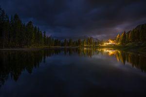 Lake Antorno lake in Italy · free photo