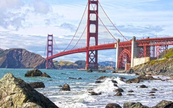 Фото бесплатно мост, Сан-Франциско, ворота