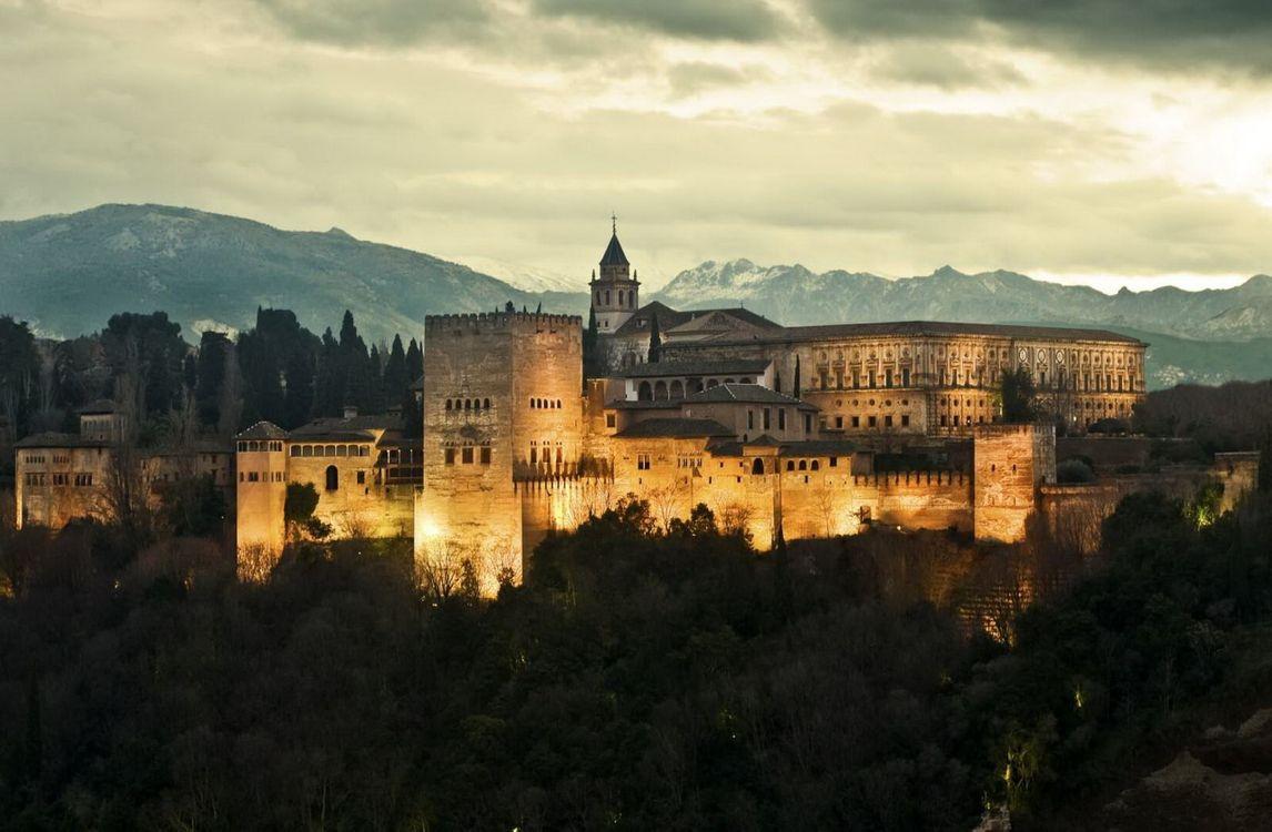 Фото бесплатно castle, fortress, Alhambra, Granada, Spane, город