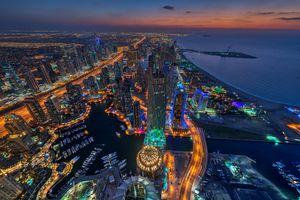 Объединенные Арабские Эмираты снимок с квадрокоптера