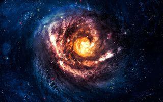 Фото бесплатно галактика, центр галактики, спираль