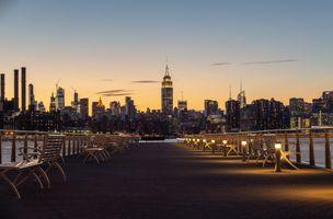 Заставки Нью-Йорк,городской пейзаж,здание,архитектура,город,городской,оранжевый