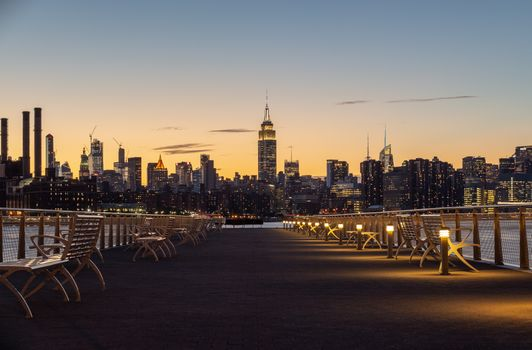 Бесплатные фото Нью-Йорк,городской пейзаж,здание,архитектура,город,городской,оранжевый,небо,манхэттен,река,США,закат