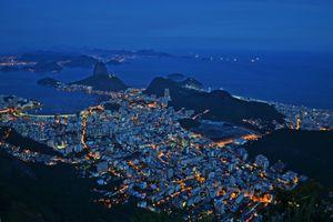 Фото бесплатно Рио-де-Жанейро, ночью, городской пейзаж