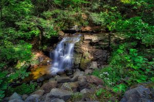 Photo free waterfall, water course, pond