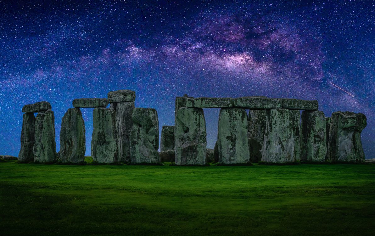 Фото бесплатно археология, архитектура, Британия, Англия, трава, Стоунхендж, Великобритания - на рабочий стол