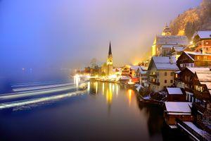 Фото бесплатно ночной город, огни, город