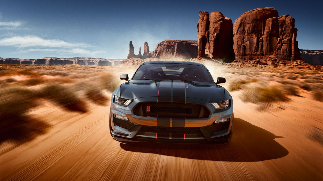 Фото бесплатно Ford Mustang, Shelby, пустыня - на рабочий стол