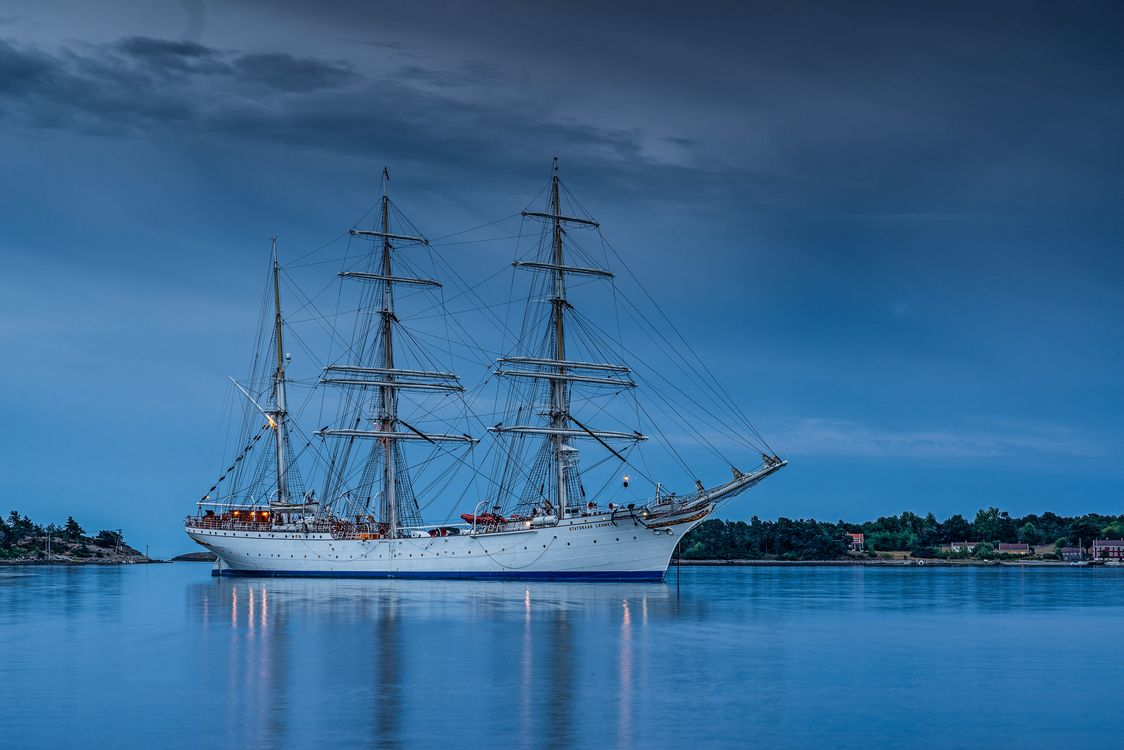 Free photo sea, Norway, sailboat - to desktop