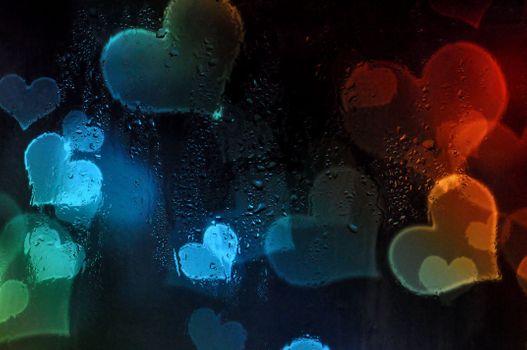 Photo free bokeh, drops, glass