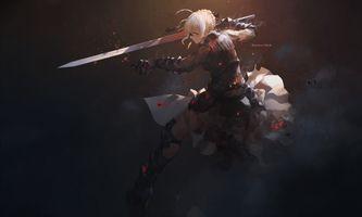 Фото бесплатно судьба великого ордена, саблю, меч, блондинка, бронированная