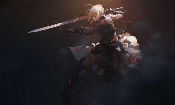 Photo free fate Grand order, sword, blonde