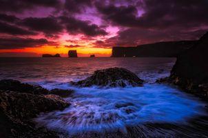 Фото бесплатно пляж, Исландия, облака