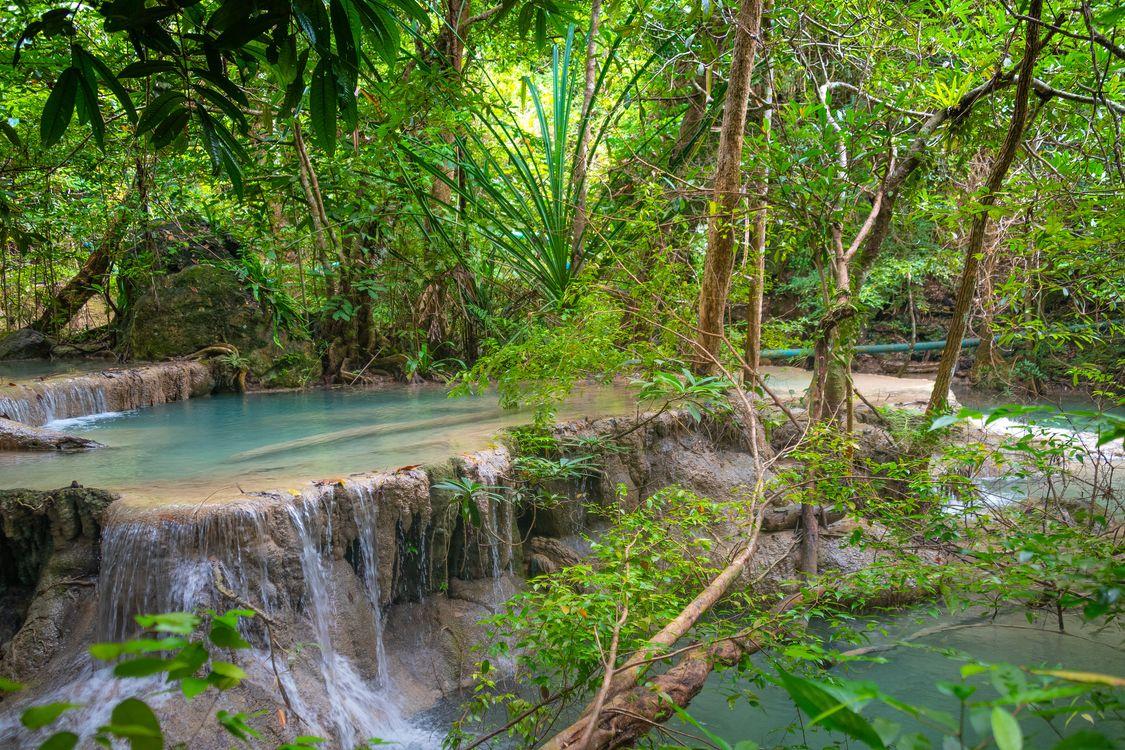Фото бесплатно Erawan waterfall, Erawan National Park, Kanchanaburi - на рабочий стол