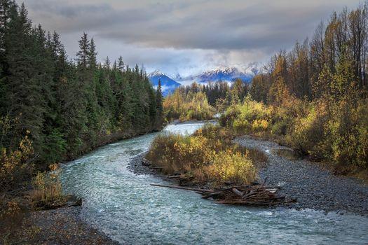 Фото бесплатно Alaska, Chugach National Forest, осень