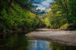 Заставки лес,деревья,осень,река,пейзаж