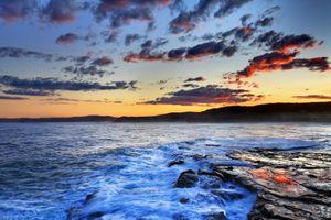 Заставки облака, пляж Макмастерс, пейзаж