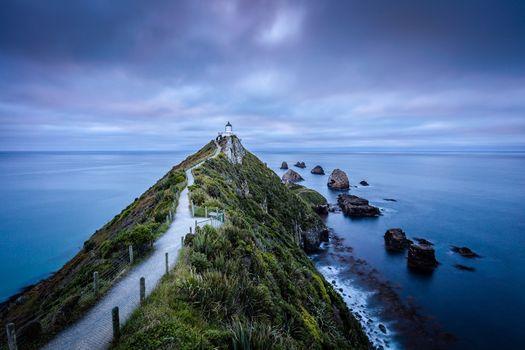 Заставки Новая Зеландия, маяк, море