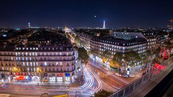 Заставки ночной город, Франция, Париж