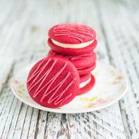 Photo free cookies, dessert, cream