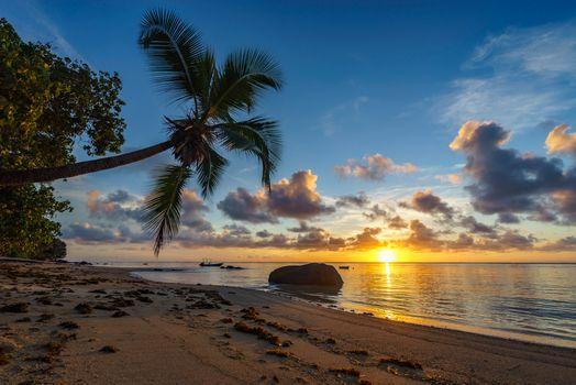 Photo free sunset, seychelles, sand