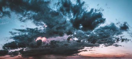 Фото бесплатно панорама, облака, закат