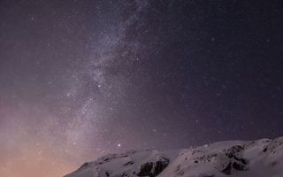 Photo free milky way view from earth mountain, stars, amazing