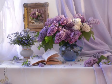 Photo free picture book, background, lilac