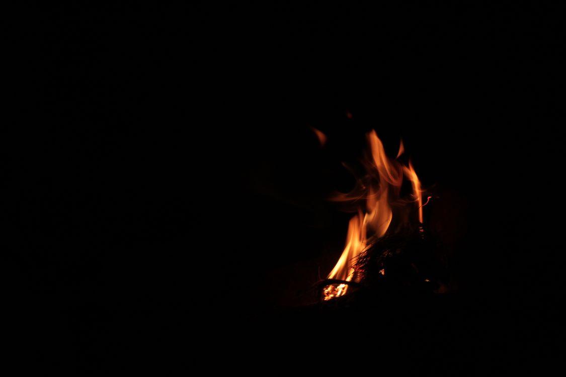 Фото бесплатно костер, пламя, ночь - на рабочий стол