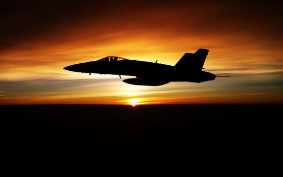 Photo free sunset, silhouette, military