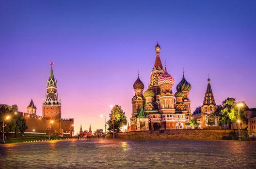 Заставки Россия, ночь, город
