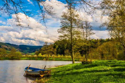 Заставки лодка, гребные лодки, озеро