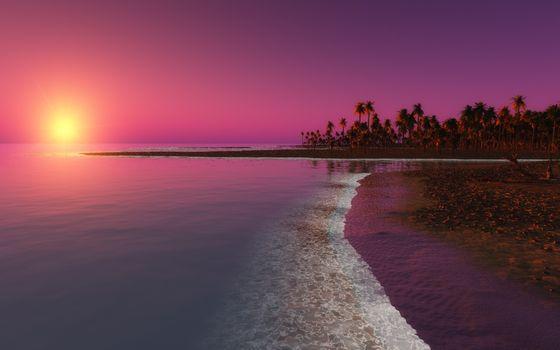 Заставки пляж, 3д графика, пейзаж