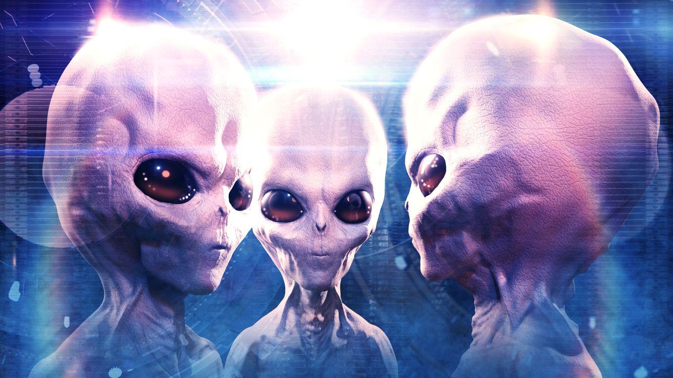 Фото бесплатно Инопланетяне, большие глаза, трое - на рабочий стол