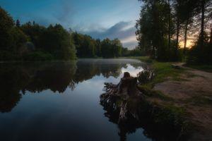Вечер в Середниково · бесплатное фото